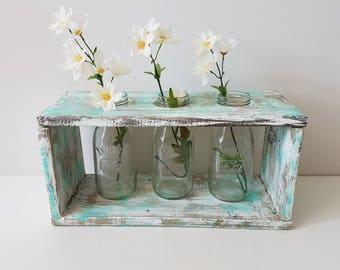 Table centerpiece, decor rustic chic