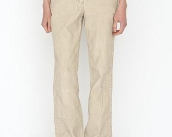 VINTAGE Brown Retro Wide Leg Denim Jeans