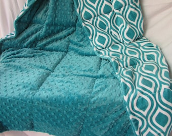 Weighted Blanket, Adult, Child, GLASS BEADS, Double Plush, Weighted Lap Pad, Minky, Weighted Throw, Autism Blanket, Twin, Insomnia 3 -27 lbs
