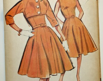 Advance 2860, Vintage 1960s Sewing Pattern, Misses' Dress With Short Jacket, Misses' Size 14, UNCUT, OLD2NEWMEMORIES