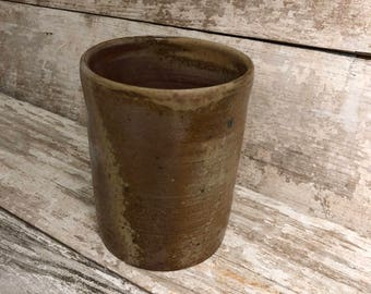 Wood fired pottery container