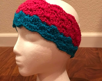 Pink and Blue Earwarmer