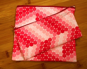 Pink Sandwich Snack Set: Reusable Bags