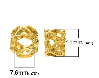 1 cord 6-7 mm - SC77971 - Perle passing gold heart