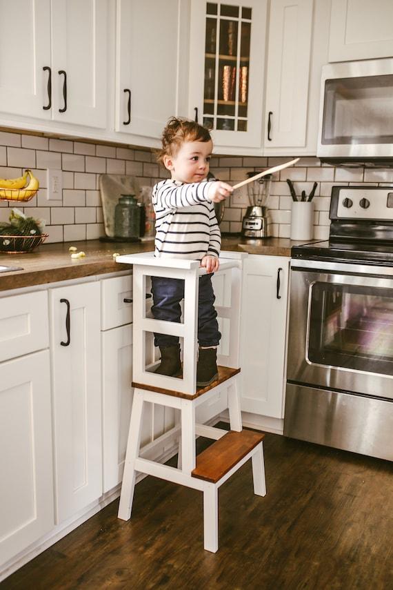 Little Chef Stool Top Kitchen Helper Kid Step Stool Toddler