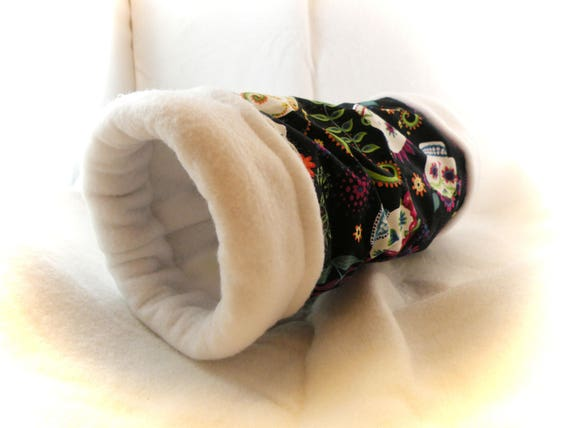 Sugar Skulls 4 Inch Cozy Tunnel for Your Favorite Little Hedgehog, Guinea Pig, Small Pet