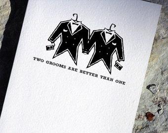 Gay Wedding Card Grooms