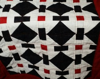 Red, White and Black quilt
