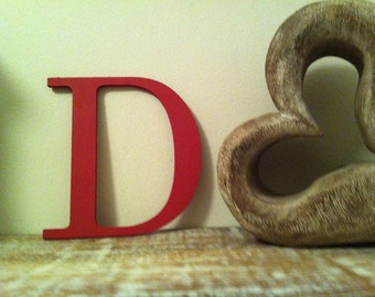Painted Wooden Letter - Large D, Times Roman Font, 40cm high, 16 inch, any colour, wall letter, wall decor, 18mm