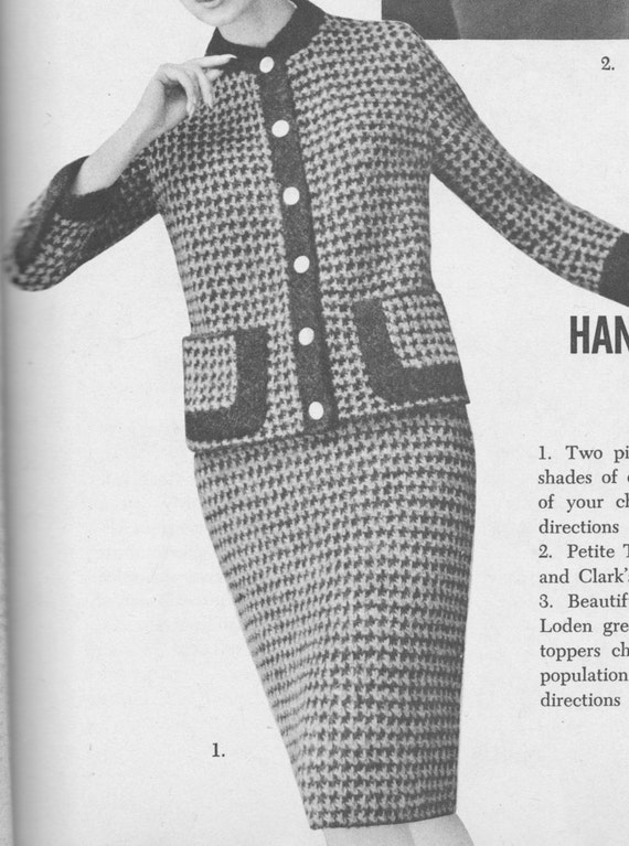 166 Pdf Chanel Style Suit Knitting Pattern Ladies Jacket And