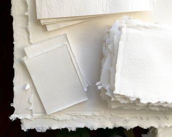 custom paper sheets, custom size handmade paper, custom paper, paper made to order, 8.5x11, 11x17, 4x6, 5x7, 14x18 handmade paper sheet