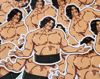 Kylo Ren 'Ben Swolo / Wide Boi' Glossy Sticker