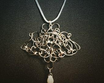 Boho Bridal Necklace, Boho Wedding Necklace,  Boho Summer Necklace, Summer Boho Necklace,  Boho Nature Necklace,  Bridal Jewelry