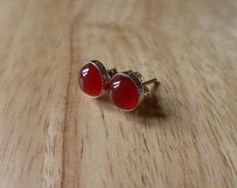 Stud Earings Carnelian Stud Earings Stone Earings