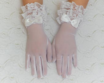 White gloves, White wedding gloves, bridal gloves, elbow gloves, long gloves