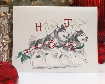 Boxed Husky Holiday Cards
