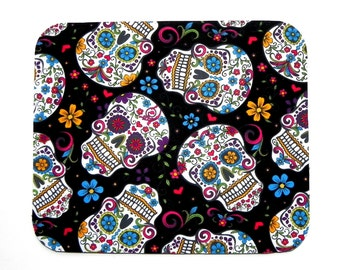 Mouse Pad - Fabric mousepad - Day of the Dead - Skulls - Home office / computer