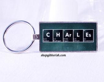Personalized Science Chemistry Keychain - Geek Nerd Breaking Bad Science Chemistry