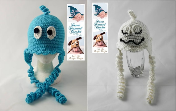 Crochet Pattern 065 - Spooktacular Ghost Beanie Hat - All Sizes