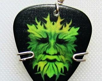 Green Man Guitar Pick - Guitar Pick Jewelry