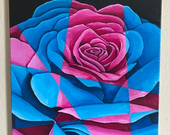 Blue And Pink Rose
