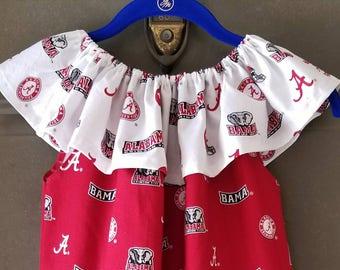 Alabama dress - Roll Tide apparel   Girls dresses - Toddler dresses - Girls clothing - Game Day Apparel - Toddler clothes - pillowcase dress