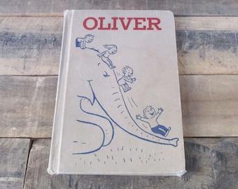 1960 'Oliver' Hardcover Children's Book. 'Oliver' by Syd Hoff - Harper Crest Library. perfect for a Vintage Nursery or Elephant Nursery!