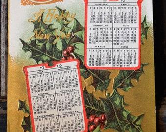 1910 Calendar Postcard