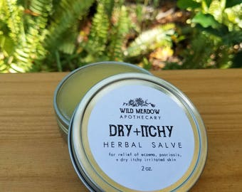 Dry + Itchy Herbal Salve | eczema, psoriasis, and dry skin relief