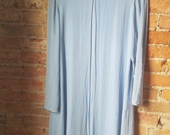 90s Powder Blue Sheer Dress