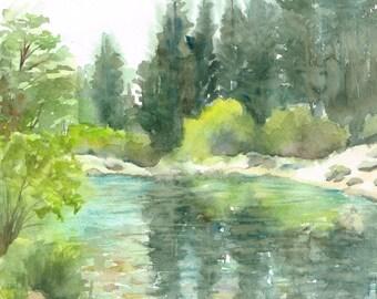 Custom Landscape Watercolor