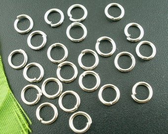 250 Jump Rings, 6mm Antique Silver Tone (1L-124)