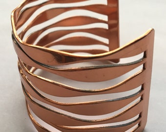 Vintage Renoir Cuff Copper Wide Open Work