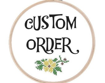 Custom Cross Stitch Final Payment