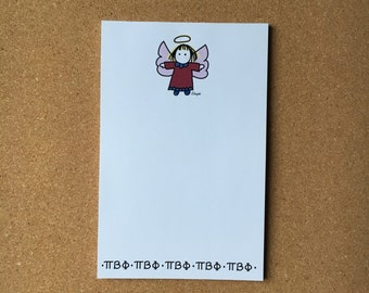 Pi Beta Phi Angel with Greek Letters Officially Licensed Notepad