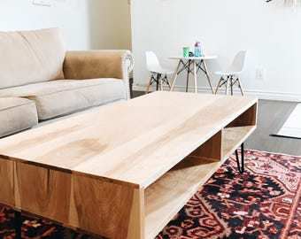 Cubby Coffee Table - Solid Birch Wood
