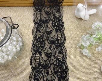Wholesale lot    15yards  Black Lace Trim sewing doll   dress   DIY 8cm