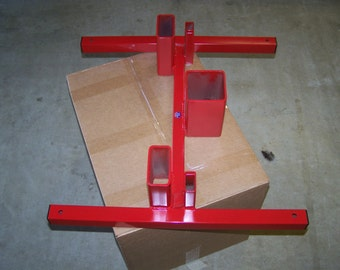 Three in one shooting target stand.