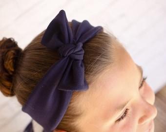 Knotted headband navy