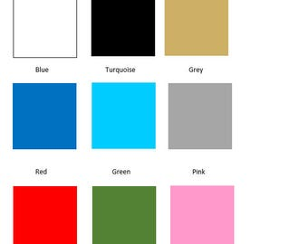 Color Swatches and Frame Sizes of Your Choosing