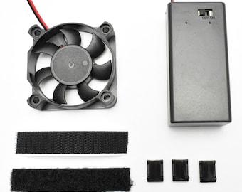 """2.0"""" Cooling Fan Kit - For Helmet - 9V battery powered - Assembled"""