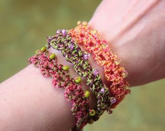 Bracelet Tutorial, Beaded Bracelet Pattern, Crochet Tutorial (49)
