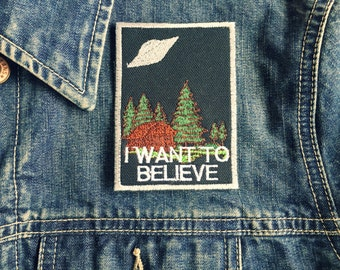 I Want To Believe Poster Embroidered Iron-On Patch