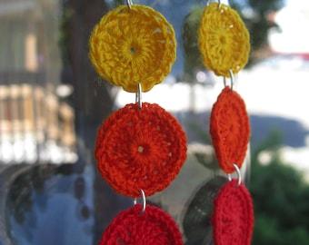 Crochet Sunshine Earrings