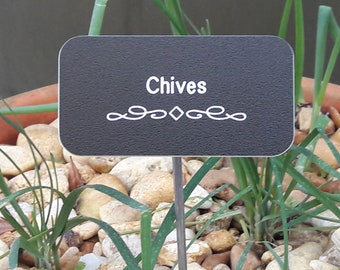 Custom Engraved Herb Labels & Garden Stakes, Vegetable Markers, UV- resistant Herb Labels, Made to Order Plant Labels, Engraved Herb Markers
