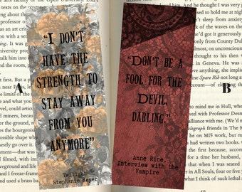 Fictional Vampire Inspired Quotemarks