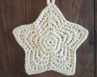 Crochet Star Potholder Pattern