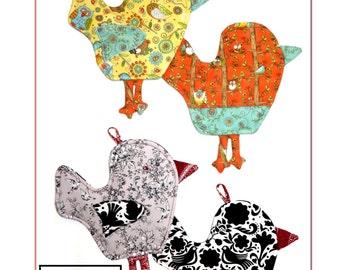 Purdie Birdie Potholders Oven Mitt Pattern