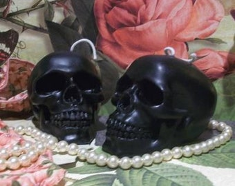 Beeswax Skull Candle Choice Of Color