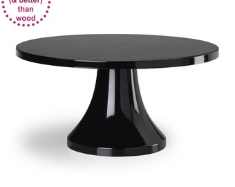 Black Cake Stand | 14 inch 16 inch | Free Shipping | Wedding Decor | Cake  sc 1 st  Etsy & Black Cake Stand 14inch Free Shipping Wedding Cake Plate